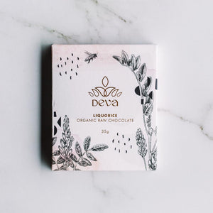 Deva Raw Chocolate Liquorice 35g