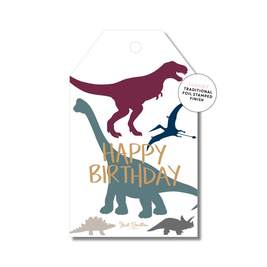 Dinosaur Birthyday Gift Tag