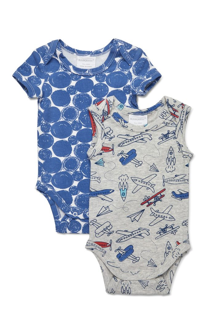 Marquise 2 Pack Bodysuits - Planes & Circles