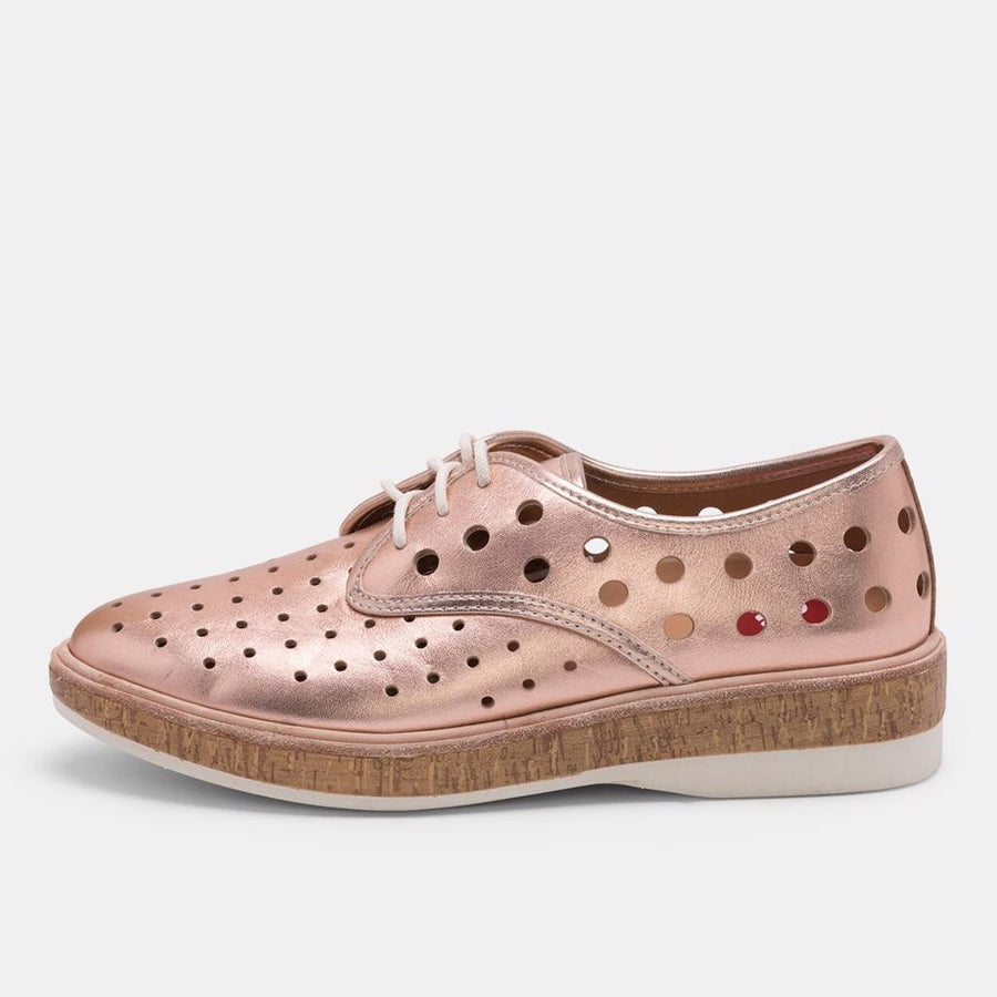 Derby Midsole Cork Circle Punch - Rose Gold