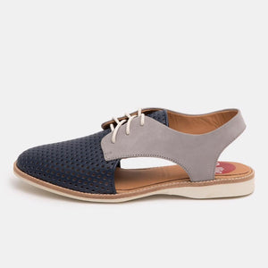 Slingback Punch Navy/Grey