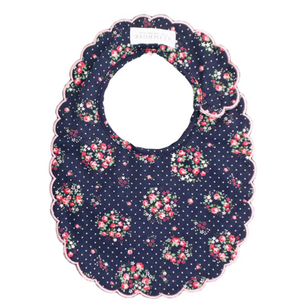 Scallop Bib - Midnight Floral