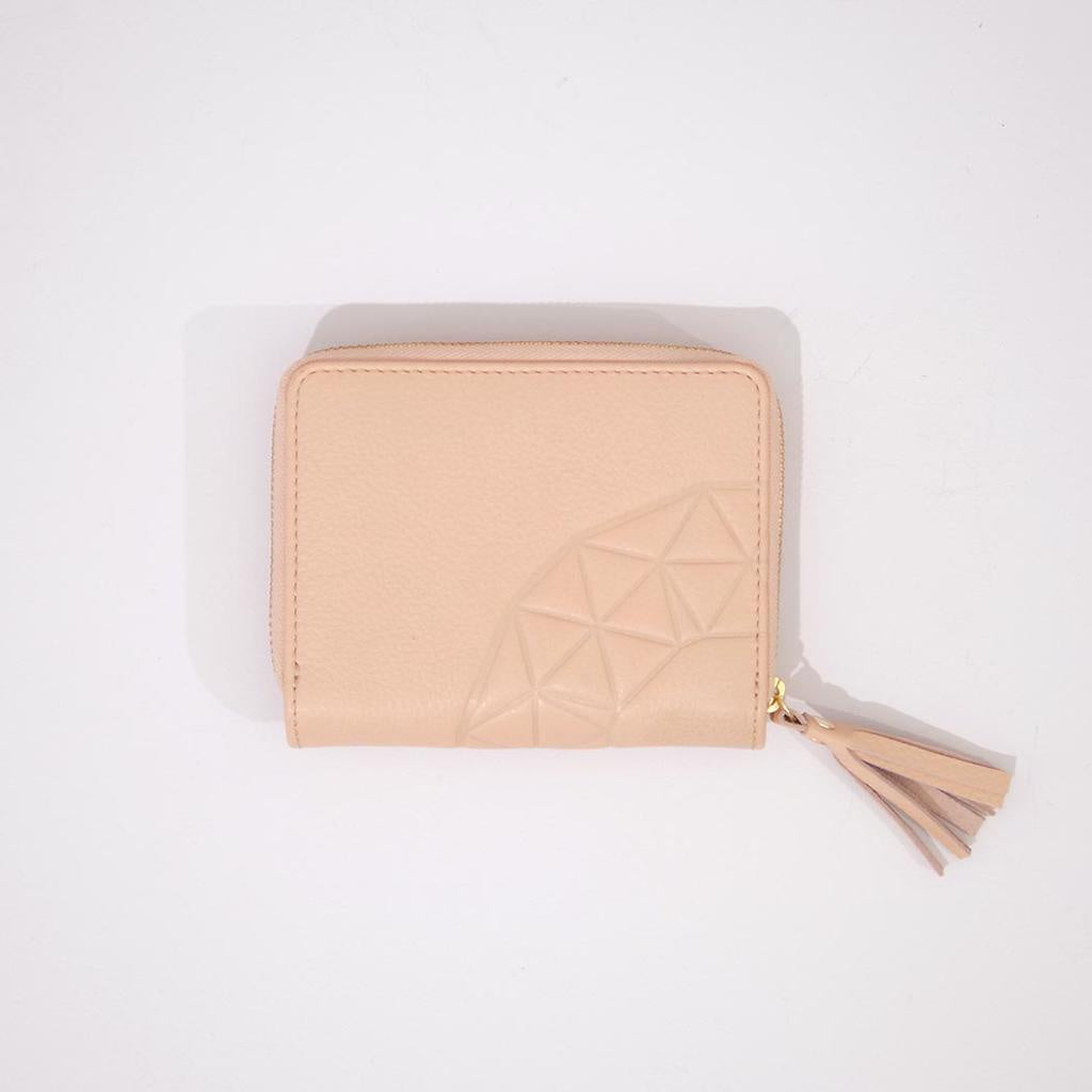 Rose & Lyle Ash Emboss Zip Wallet Blush