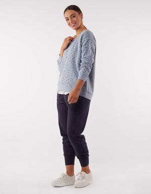 Elodie Spot Crew Light Blue