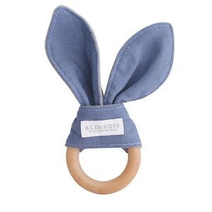 Bailey Bunny Teether Chambray