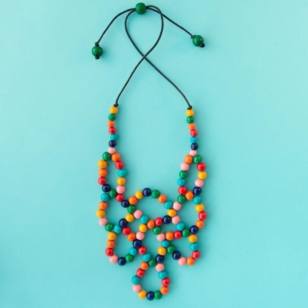 Maasai Woven Loop Necklace Multi