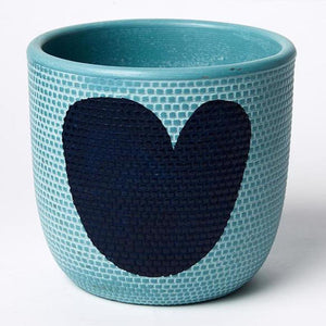 Heart Pot Blue