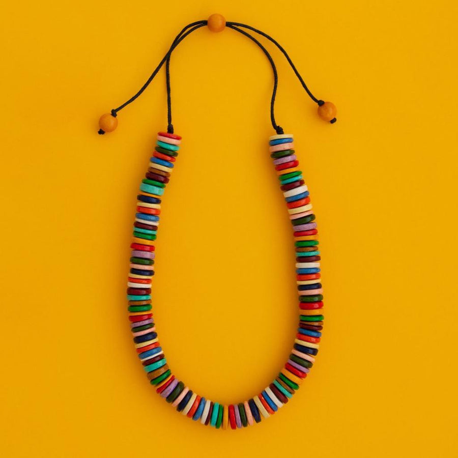 Maasai Coco Striped Necklace