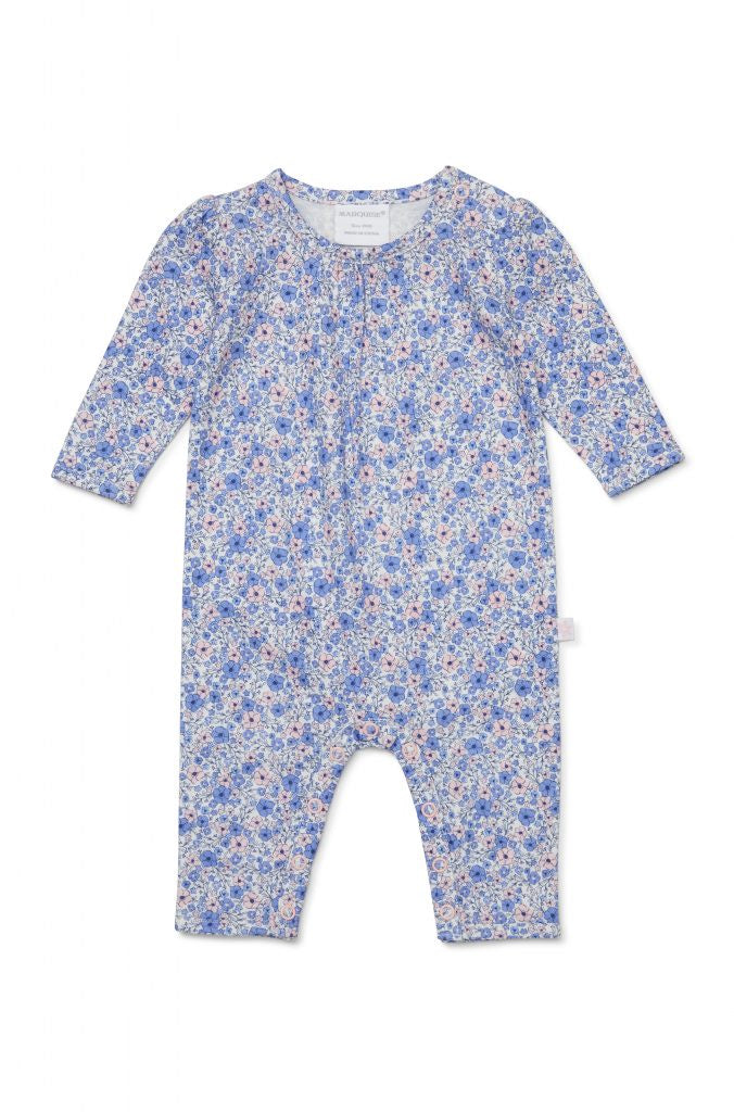 Periwinkle Footless Studsuit