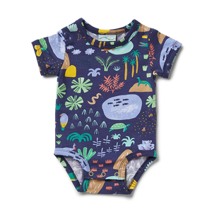 Beach Forest Short Sleeve Bodysuit