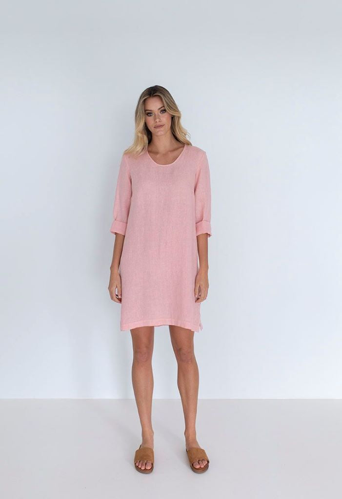 Shore Shift Dress - Pink
