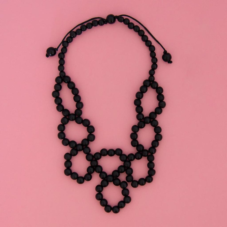Maasai Weave Necklace Black
