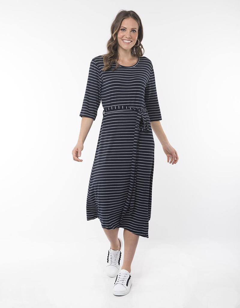 Devoted Stripe Midi Dress