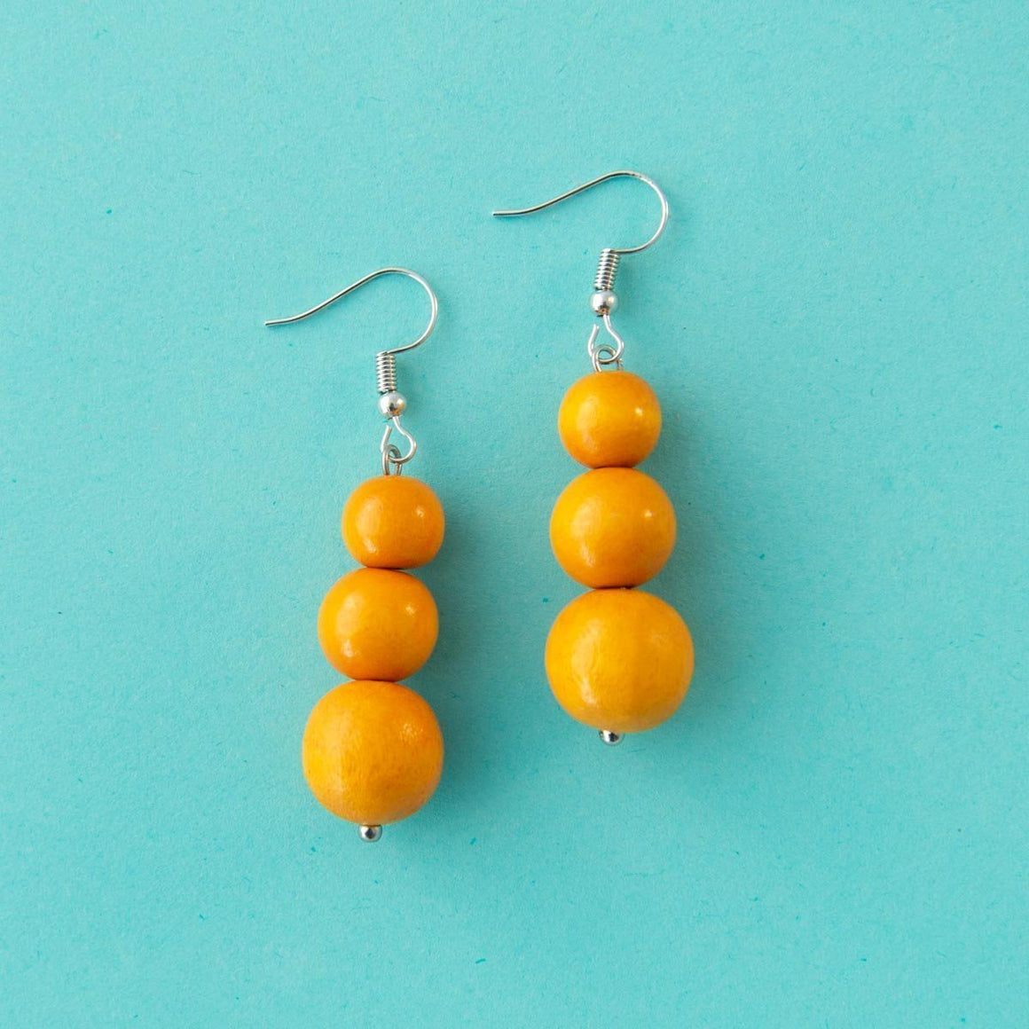 Maasai Drop Earring Yellow
