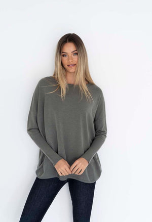 Rosie Knit Top Khaki