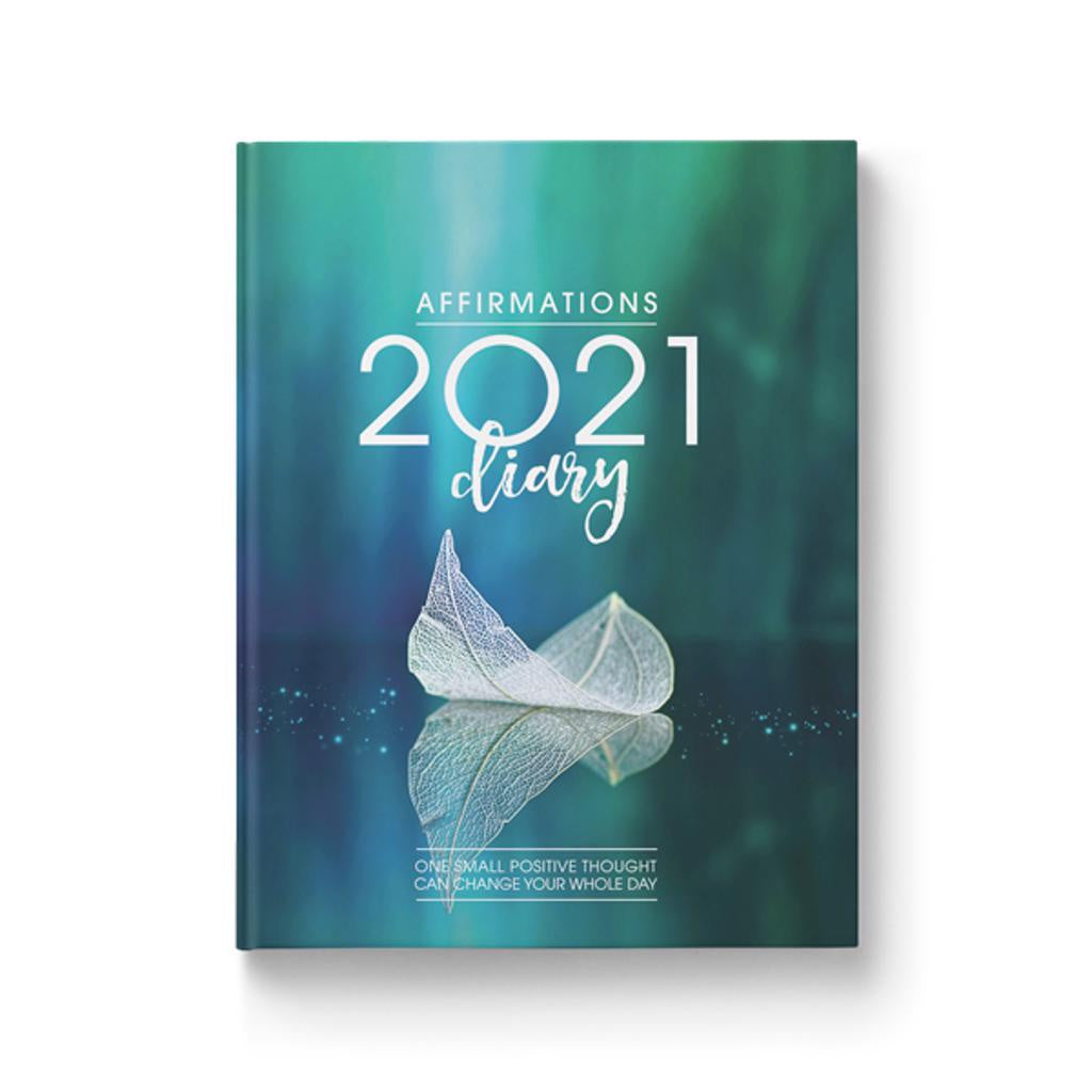 Affirmations Diary 2021 Blue