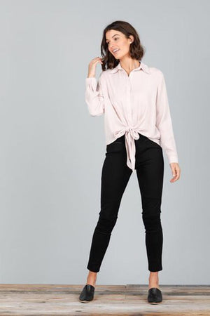 Alias Tie Up Front Top Blush