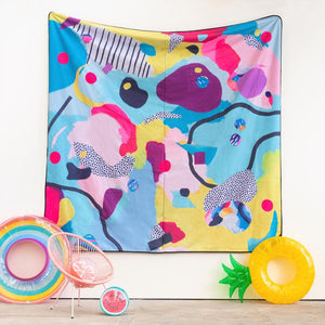 Sunshine & Lollipops Really Big Picnic Rug