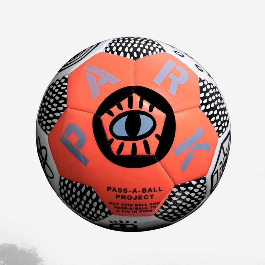 Park Social Soccer Ball Neon Orange