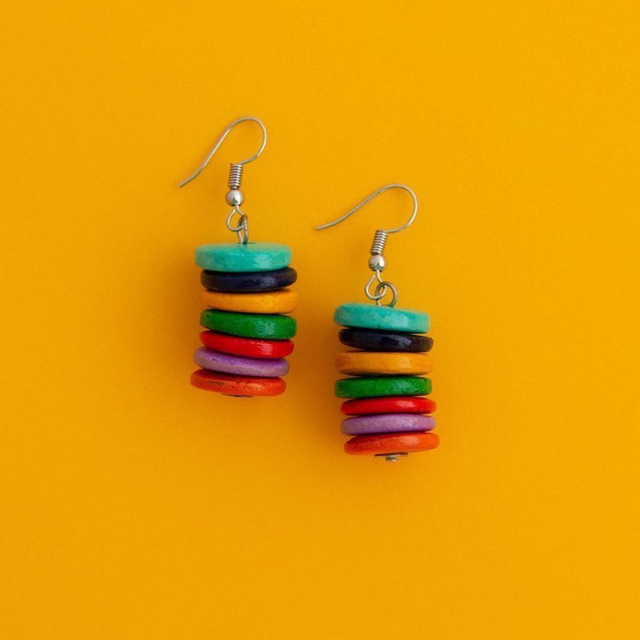 Maasai Coco Striped Multi Earrings
