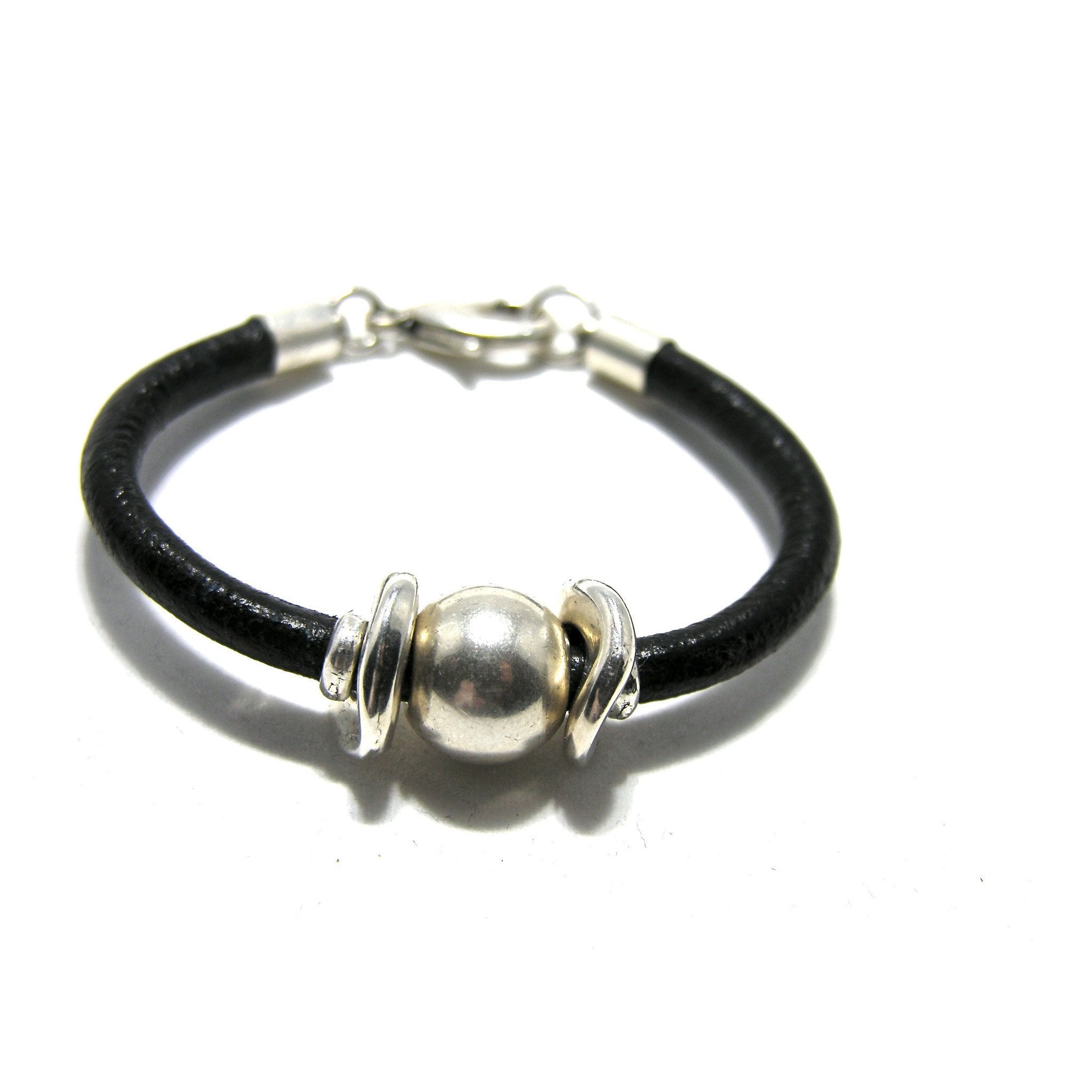 Round Leather Large Ball Bracelet - SPREE