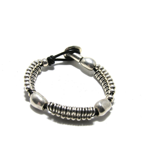 Round Leather Washer Bracelet - SPREE Boutique