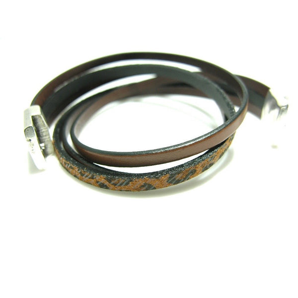 Double Leather Wrap Magnetic Bracelet - SPREE