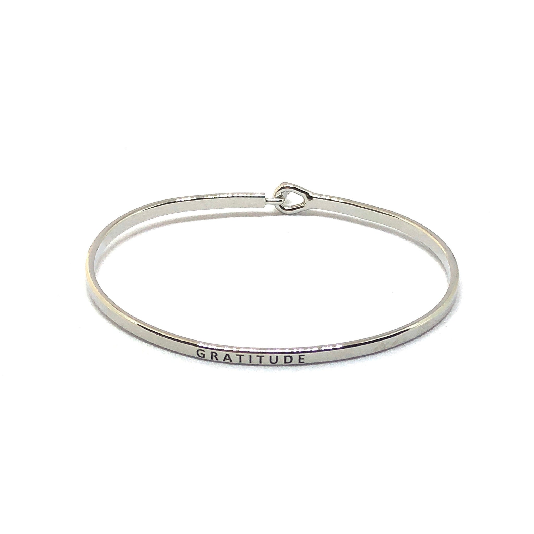 Gratitude Inspirational Bangle - SPREE