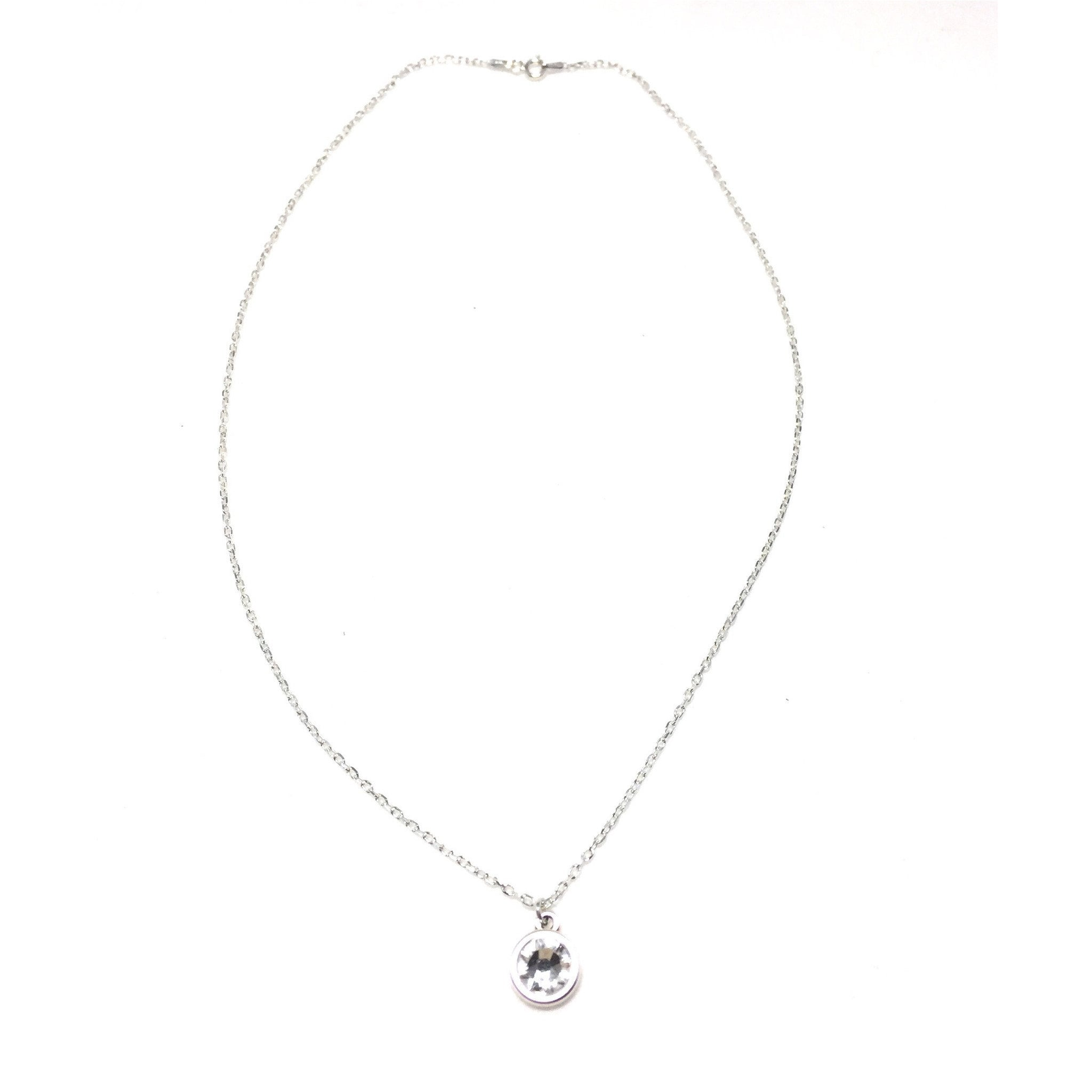 Sterling Silver Swarovski Crystal Necklace - SPREE