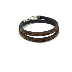 Leather Leopard Wrap Bracelet - SPREE