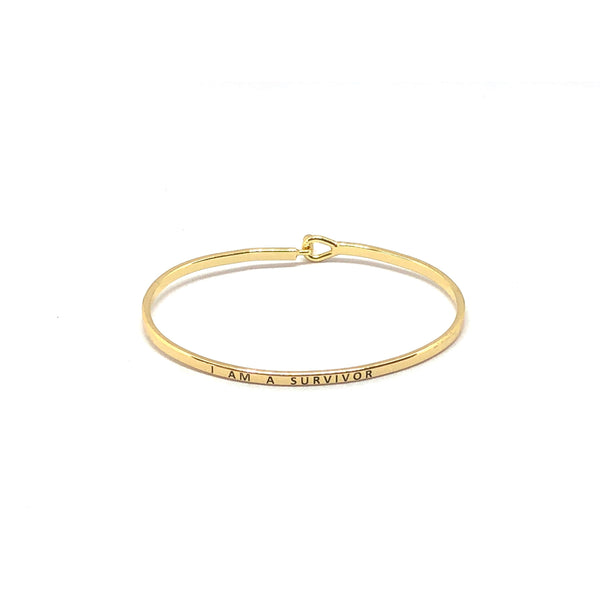 I Am A Survivor Inspirational Bangle - SPREE