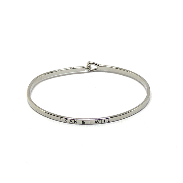 I Can And I Will Inspirational Bangle - SPREE
