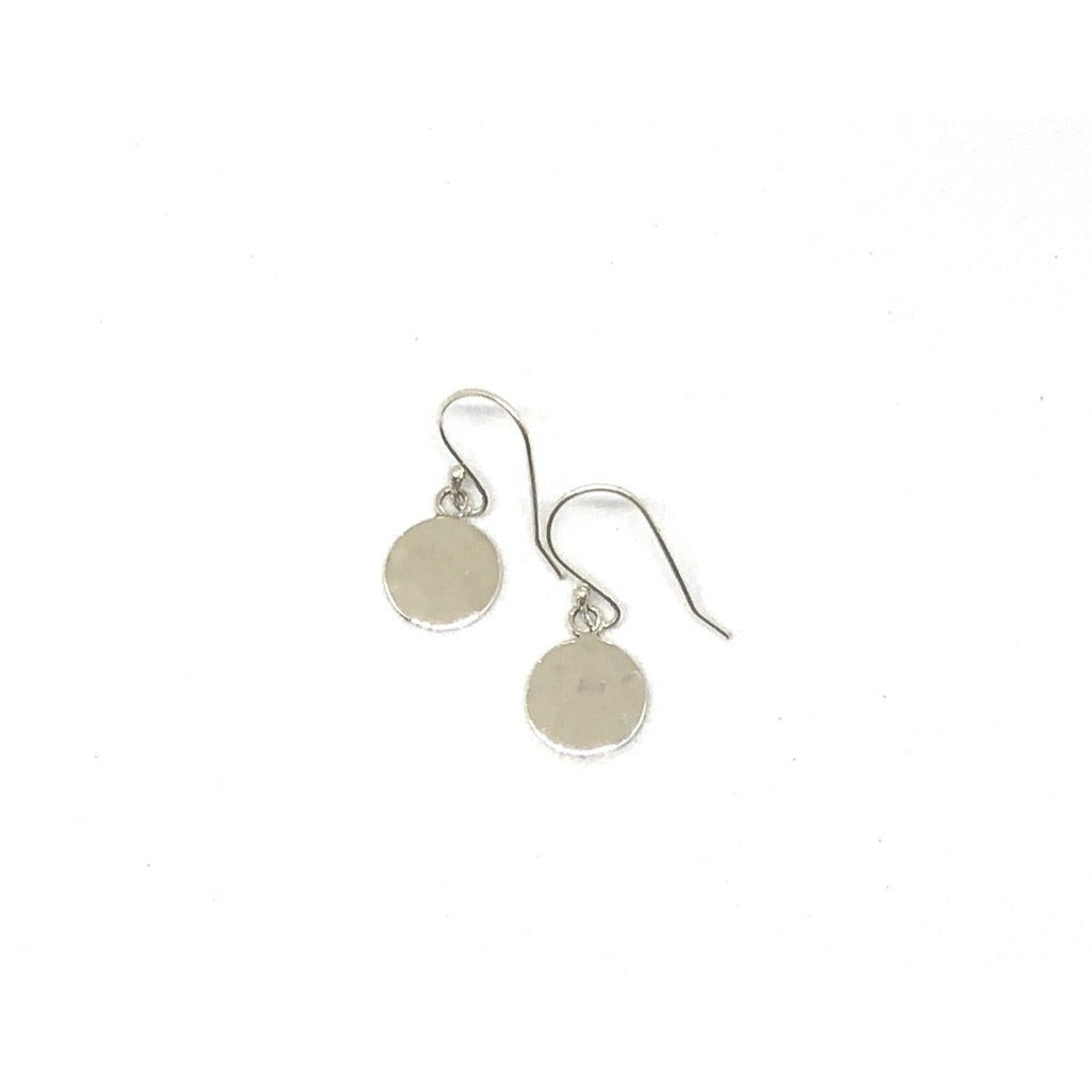 Sterling Silver Small Hammered Earrings - SPREE