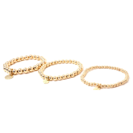 Love You More Gold Shimmer Eternity Bracelet