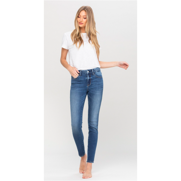 The Amy Mid Rise Skinny Ankle Jean