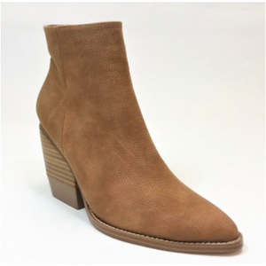 Tan Pointed Vegan Bootie