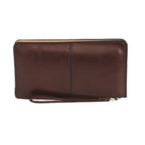 Plain Vegan 3 Pocket Wallet Wristlet - SPREE