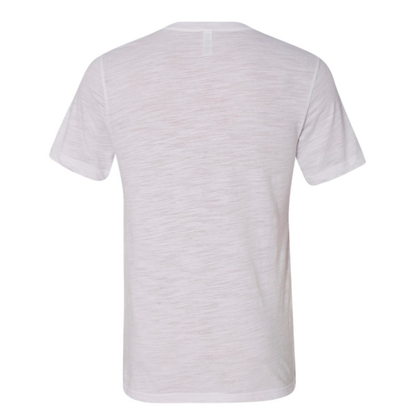Short Sleeve Slub Knit V Neck T Shirt - SPREE