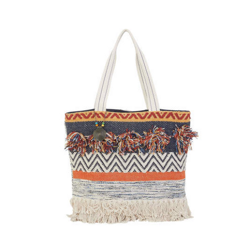 Boho Fringe Shoulder Tote - SPREE