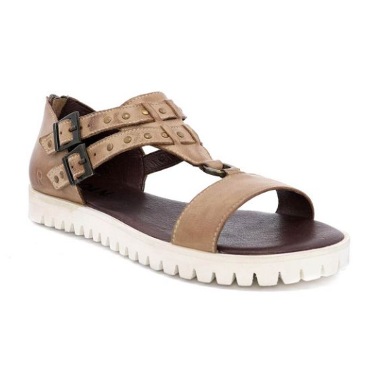 IBIS Tan Distressed Sandal - SPREE
