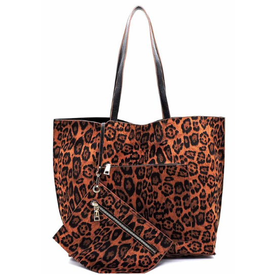 Leopard Reversible Tote - SPREE