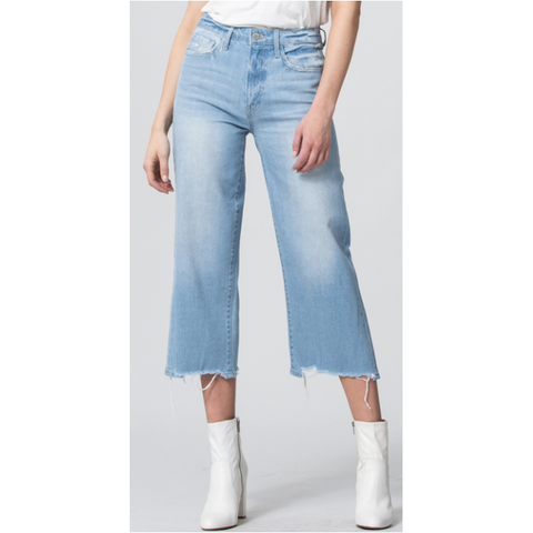 High Rise Crop Wide Leg Jean