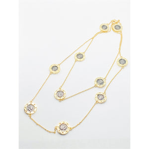 Gold Plated Multi Coin Necklace