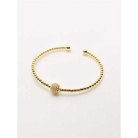 Crystal Ball Cuff Bracelet