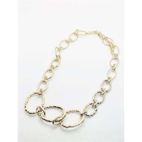 Graduated Oval Link Necklace