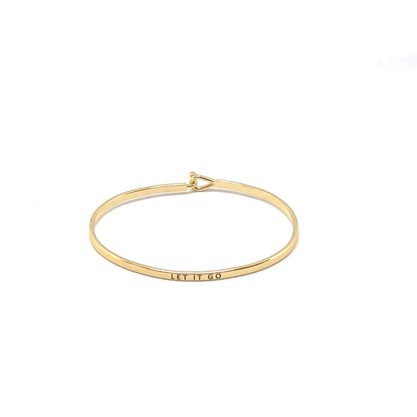 Let It Go Inspirational Bangle - SPREE