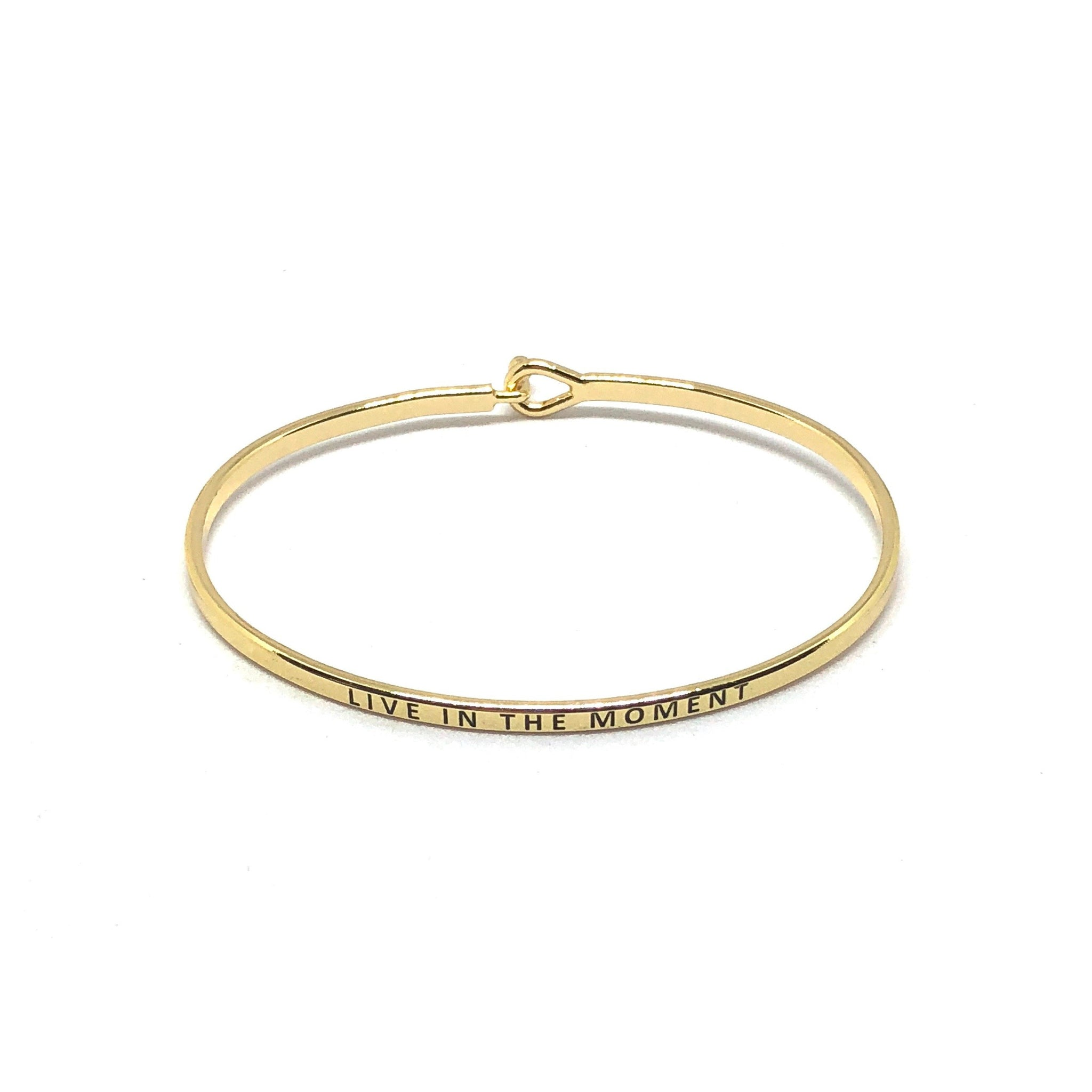 Live In The Moment Inspirational Bangle - SPREE
