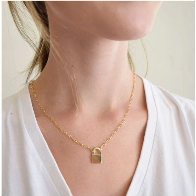 Love You More Flat Lock Necklace
