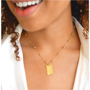 Love You More Golden Girl Necklace