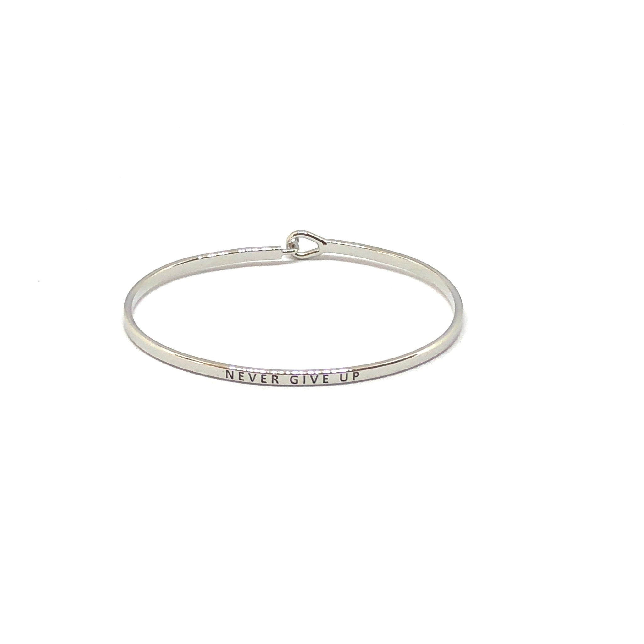 Never Give Up Inspirational Bangle - SPREE